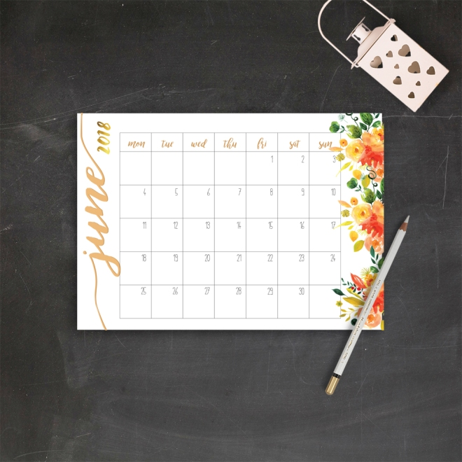 imchasingsunsets june calendar 2