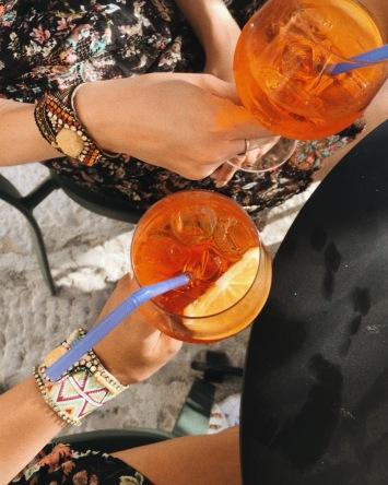 Drinks at one of the bars in Kosančiev Venac